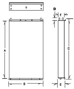 dimensioned drawing of RParts Holding Plates